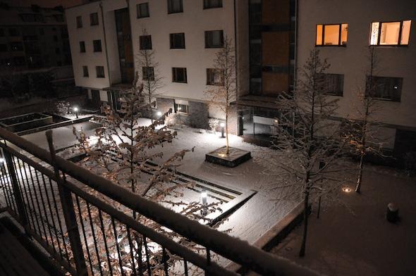 Erster Schnee im Winter 2008. Am nächsten Morgen war die weiße Pracht schon wieder weg.