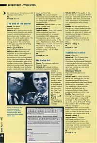 Web-Verzeichnis der .net vom April 1995.