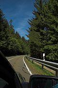 Malerische Landstrasse im Bayrischen Wald