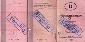 Ungültiger Führerschein